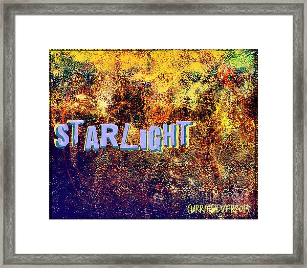Starlight Framed Print by Currie Silver