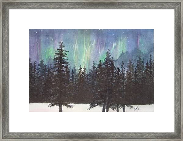 Framed Print featuring the painting Starlight Dance by Gigi Dequanne
