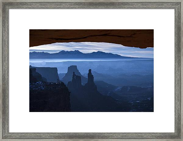 Framed Print featuring the photograph Starlit Mesa  by Dustin  LeFevre
