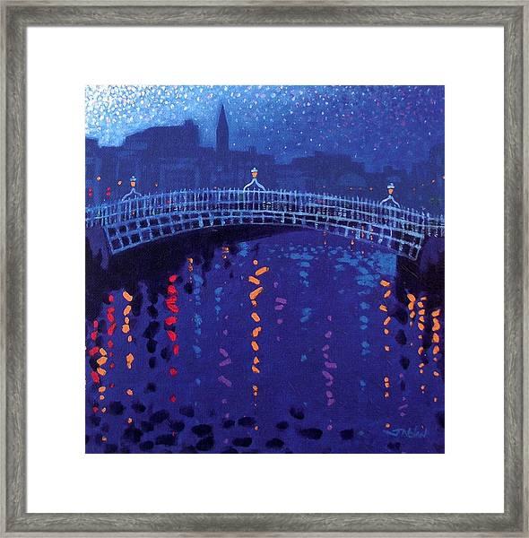 Starry Night In Dublin Framed Print