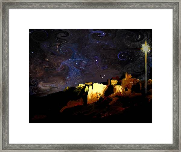 Starry Starry Bethlehem Night Framed Print by Ron Cantrell