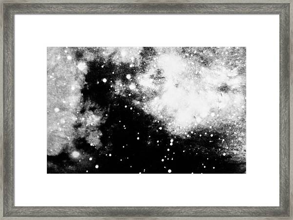 Stars And Cloud-like Forms In A Night Sky Framed Print