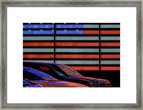 Stars And Stripes Reflected Framed Print