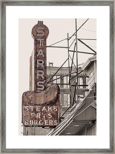 Stars Steaks Frys And Burgers Framed Print