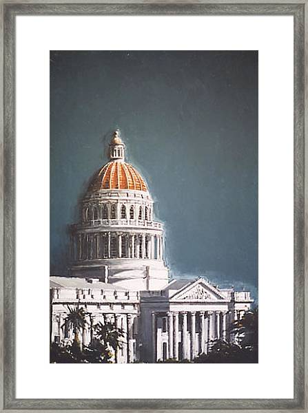 State Capitol Framed Print by Paul Guyer