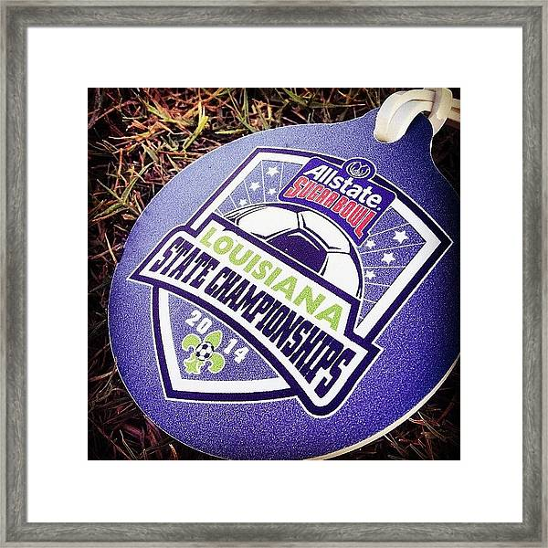 State Cup Prelims #iphone5 #instagram Framed Print