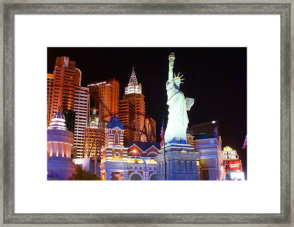 Statue Of Liberty Replica Framed Print