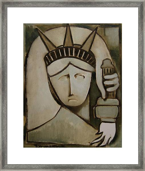 Tommervik Abstract Statue Of Liberty Art Print Framed Print