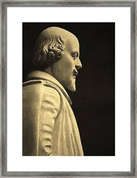 Statue Of William Shakespeare Framed Print