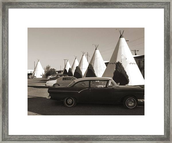 Staying At The Wigwam 2 Framed Print