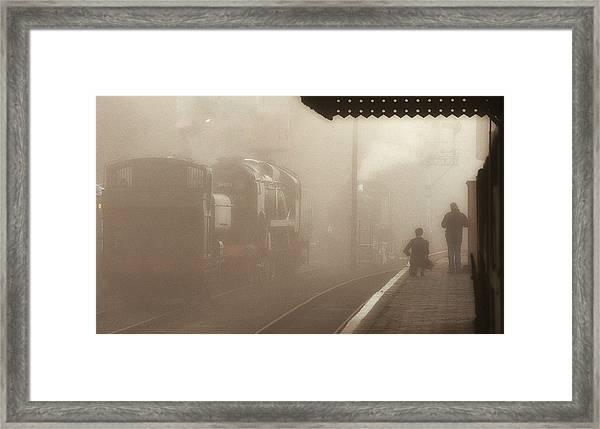 Steam Engines At Dawn Framed Print