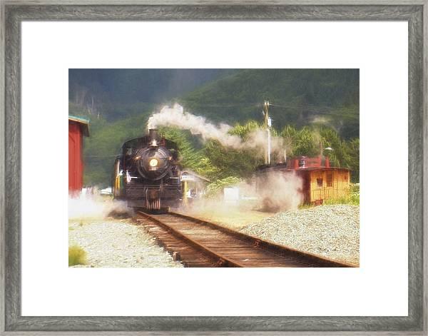 Steam Memories Framed Print