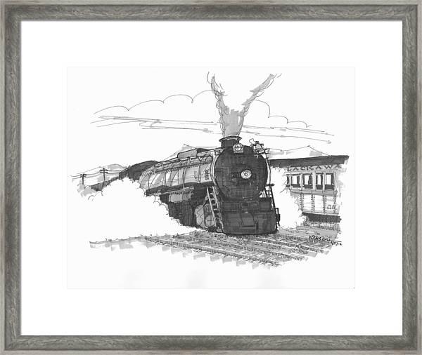 Steam Town Scranton Locomotive Framed Print