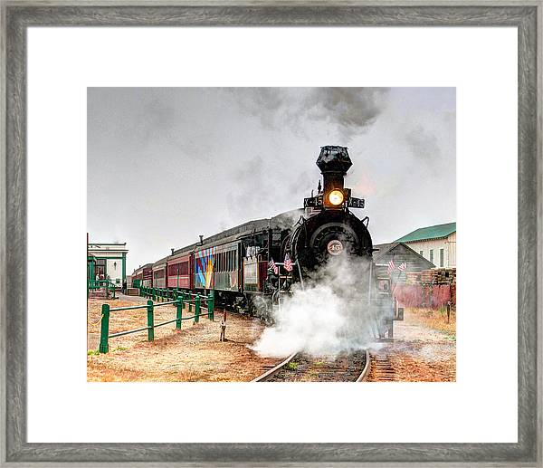 Framed Print featuring the photograph Steam Train 45 by William Havle