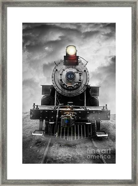 Framed Print featuring the photograph Steam Train Dream by Edward Fielding