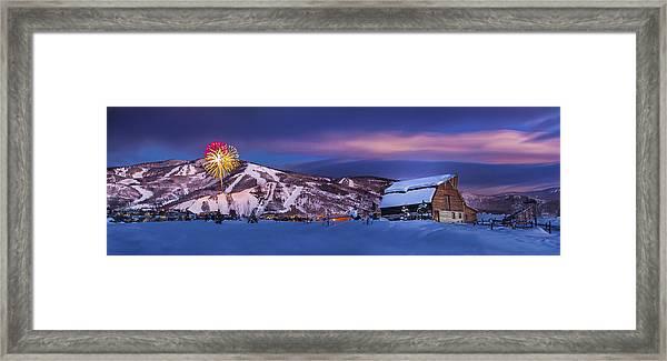 Steamboat Barn Framed Print