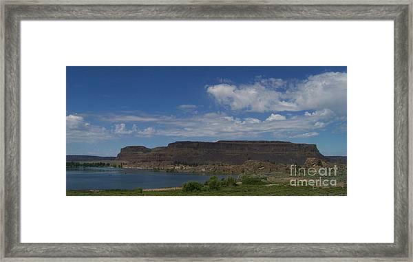 Steamboat Rock Framed Print