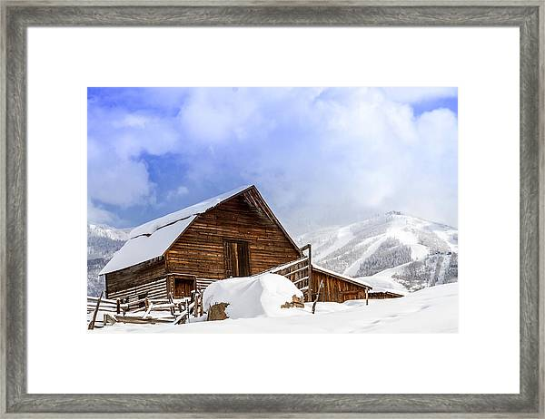 Steamboat Springs Barn And Ski Area Framed Print