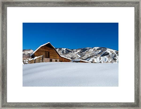 Steamboat Springs Barn Framed Print
