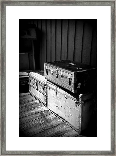 Steamer Trunks Framed Print