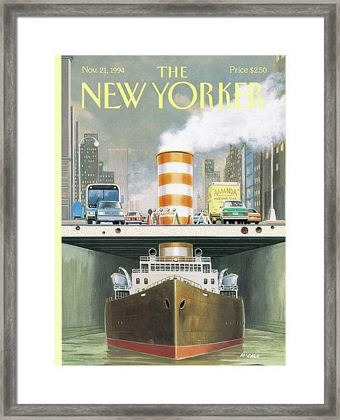 New Yorker November 21st, 1994 Framed Print by Bruce McCall