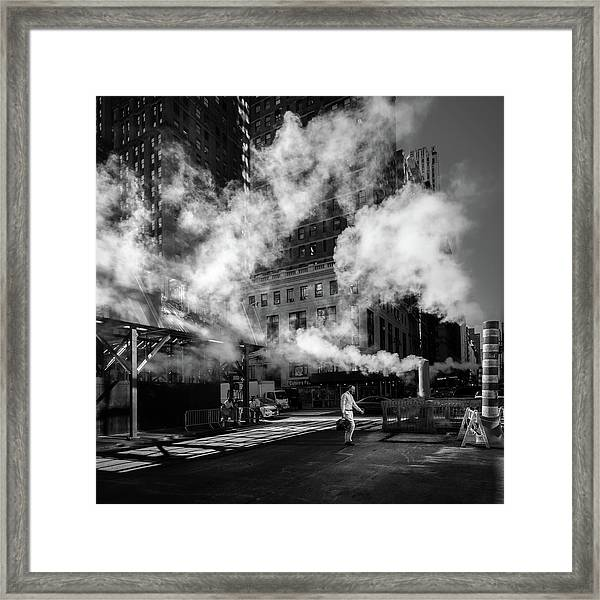 Steaming Framed Print by Eduardo Marques