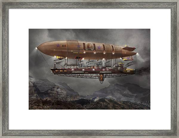 Steampunk - Blimp - Airship Maximus  Framed Print