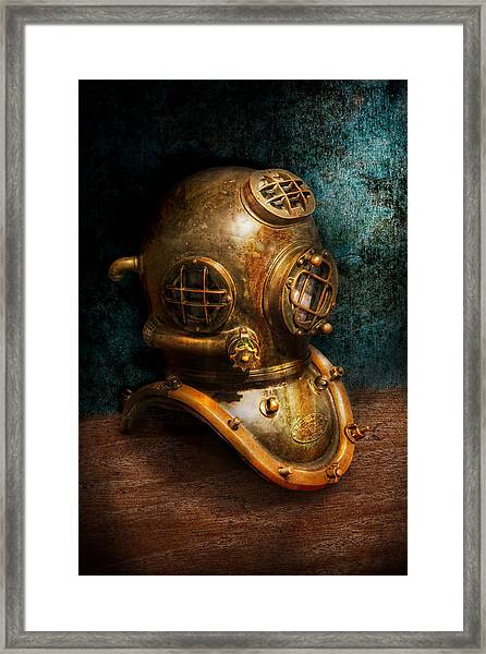 Steampunk - Diving - The Diving Helmet Framed Print