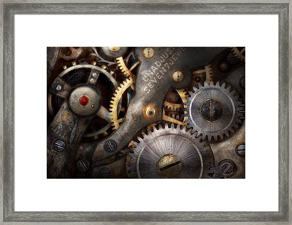 Steampunk - Gears - Horology Framed Print