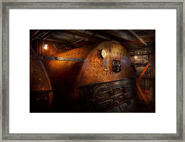 Steampunk - Plumbing - The Home Of A Stoker  Framed Print