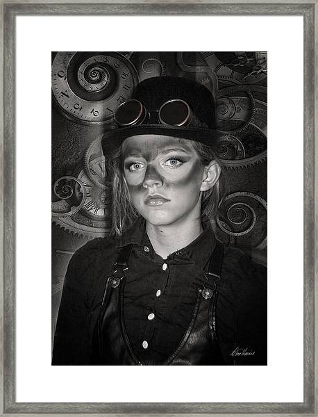 Steampunk Princess Framed Print