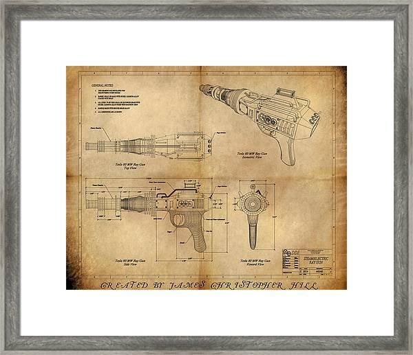 Steampunk Raygun Framed Print