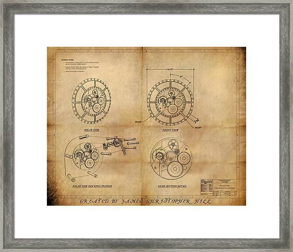 Steampunk Solar Disk Framed Print