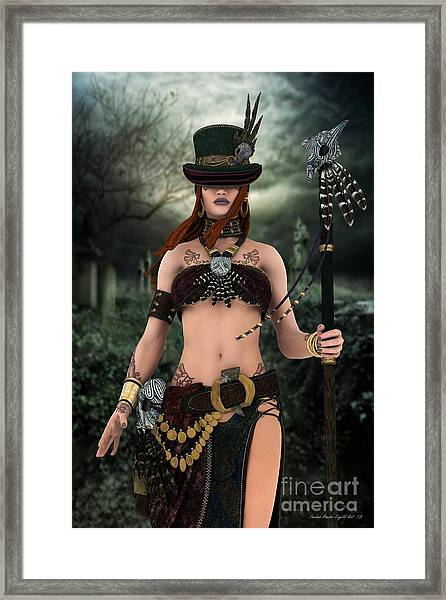 Steampunk Voodoo Framed Print by Sandra Bauser Digital Art