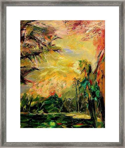 Steamy Cove Framed Print