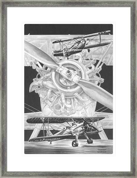 Stearman - Vintage Biplane Aviation Art Framed Print