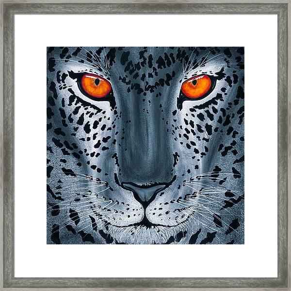 Steel Leopard Framed Print