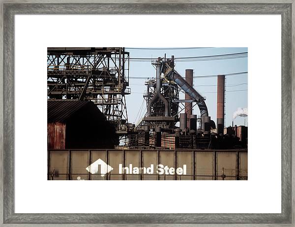 Steel Works Framed Print
