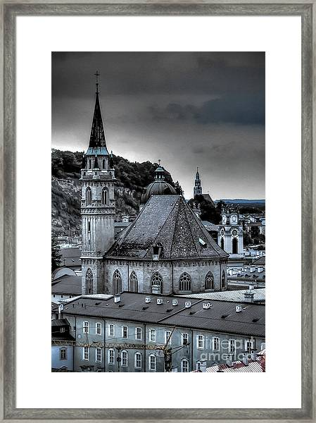 Steeples Over Innsbruck Framed Print