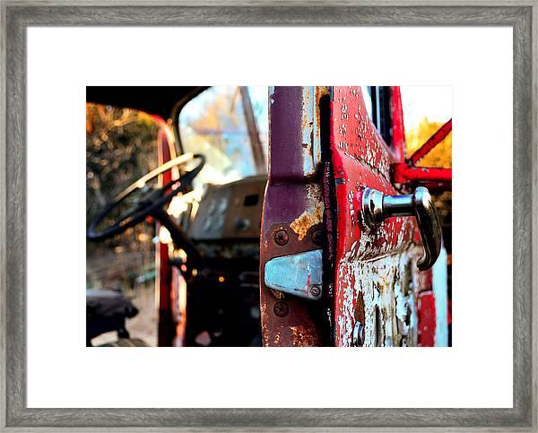 Steering Through Time Framed Print