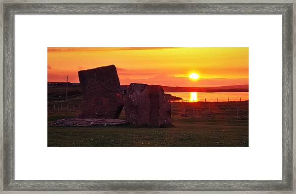 Stenness Sunset 2 Framed Print by Steve Watson