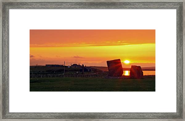 Stenness Sunset 4 Framed Print by Steve Watson