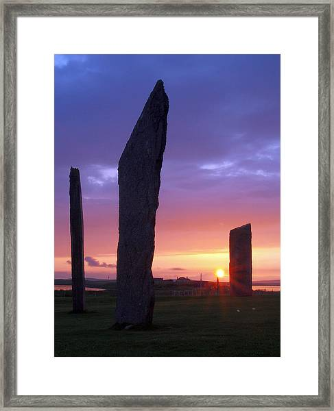 Stenness Sunset 5 Framed Print by Steve Watson