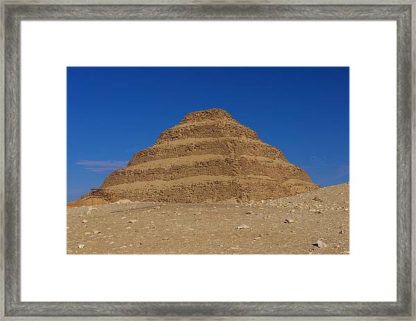 Step Pyramid Of King Djoser At Saqqara  Framed Print