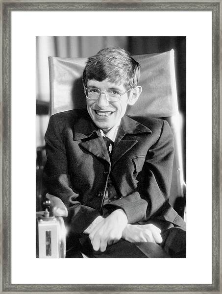Stephen Hawking Framed Print by Emilio Segre Visual Archives/american Institute Of Physics/science Photo Library