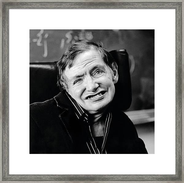 Stephen Hawking Framed Print by Lucinda Douglas-menzies