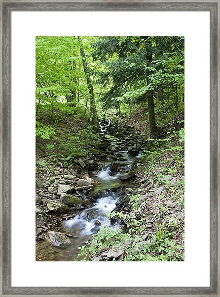 Stepped Water Fall Framed Print