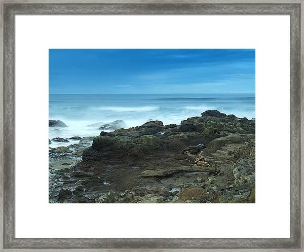 Steps To The Ocean Framed Print