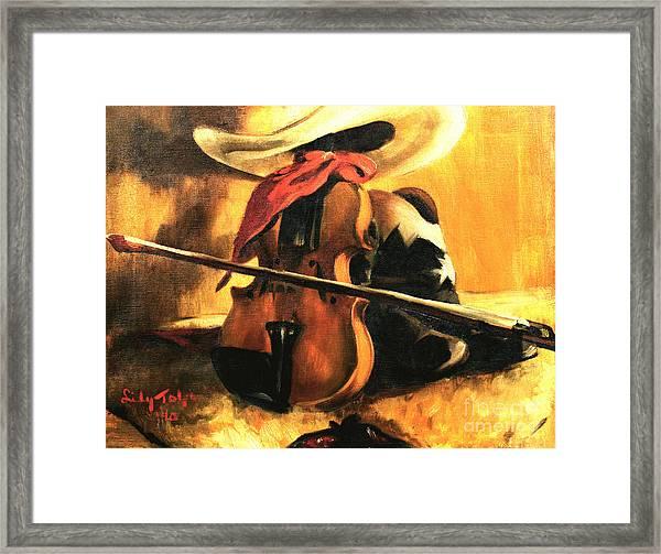 Stetson - Fiddle - Boots  Framed Print