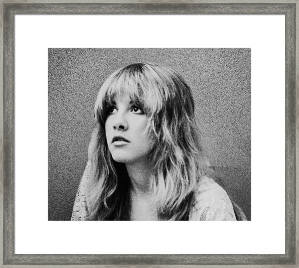 Stevie Nicks Bw Framed Print